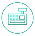Cash register machine line icon vector image