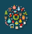 Christmas Colorful Objects and Elements vector image