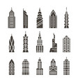 city buildings vector image