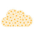 cloud figure of sun icons vector image