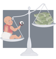 Cost of having a baby vector image vector image