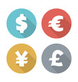 Currency modern flat icons vector image vector image