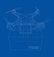 delivery drone concept outline vector image