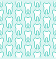 dentist orthodontics blue white seamless pattern vector image