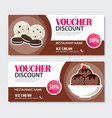 discount voucher set of ice cream template design vector image vector image