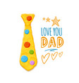 fathers day greeting vector image vector image