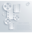 film icon background Eps10 vector image vector image