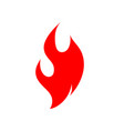 fire flame logo icon vector image vector image