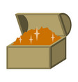 flat icon on stylish background treasure chest vector image vector image