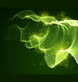flowing magic particles wave over dark vector image vector image