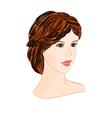 Girl brunette with short hair elegant portrait vector image vector image