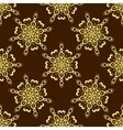 Gold Seamless Mandala Pattern over dark vector image vector image