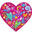 Groovy heart background vector image