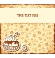 Hand-drawing card from seamless cupcake pattern vector image vector image
