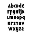 hand drawn gothic font editable alphabet vector image