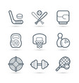 icon set sport and games vector image vector image