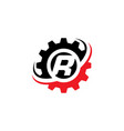 letter r gear logo design template vector image