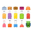 luggage suitcase travel bag vector image vector image