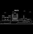 malta silhouette skyline city maltese vector image