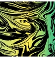 Marbled texture Handmade background Green vector image
