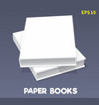 mock-ups of paper books-04 vector image vector image