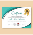 modern verified certificate background vector image vector image
