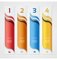 modern wave infographics options banner vector image