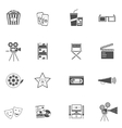 Movie Icons Black Set vector image vector image