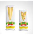 pasta package realistic set vector image vector image