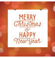 poster for Christmas and New Year holidays vector image vector image
