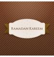 ramadan kareem greeting badge with text