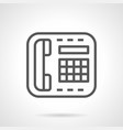reception desk telephone simple line icon vector image