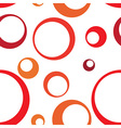 Red Circle Ring Seamless Pattern Background vector image