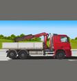 red truck loader vector image