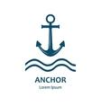 Sea anchor logo vector image