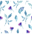 seamless watercolor rose floral pattern vector image