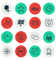 set of 16 eco-friendly icons includes sun power vector image vector image