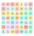 Set of Doodle Travel Icons vector image vector image