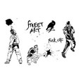 set of graffiti art artists signs and splashes vector image