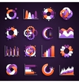 Set of infographics charts and diagrams for your vector image vector image