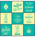 set vintage summer typographic quotes vector image vector image