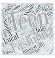 Should You Let Your Teen Become a Fashion Model vector image vector image