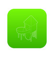 slide pipe icon green vector image vector image