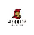 sparta logo spartan helmet logo design vector image vector image