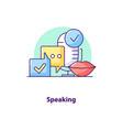 speaking creative ui concept icon vector image