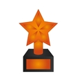 star trophy icon vector image