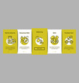 supplements onboarding elements icons set vector image vector image