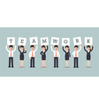 teamwork businessmen and businesswomen vector image