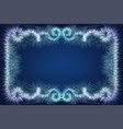 the template ice pattern or festive garlands on a vector image vector image