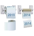 Toilet paper 2014 and 2015 vector image vector image